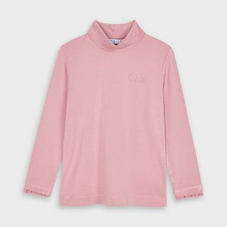 viscose turtleneck pink
