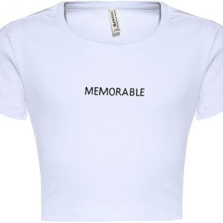 Blue Effect Witte T-Shirt Memorable